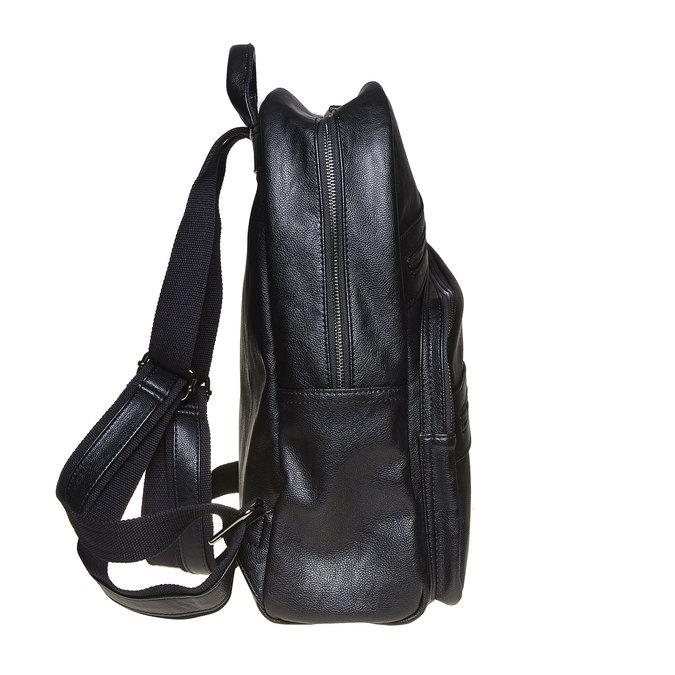 Backpack with zips bata, black , 961-6516 - 17