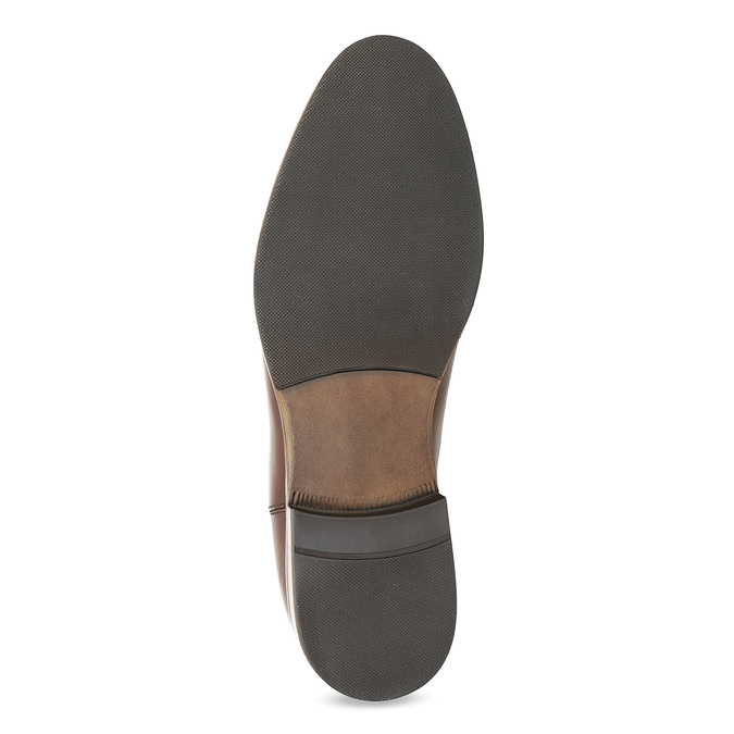 Brown leather Chelsea boots bata, brown , 594-4636 - 18