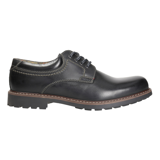 Men's leather shoes bata, black , 826-6619 - 15