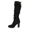 Ladies' black heeled high boots bata, black , 799-6614 - 26