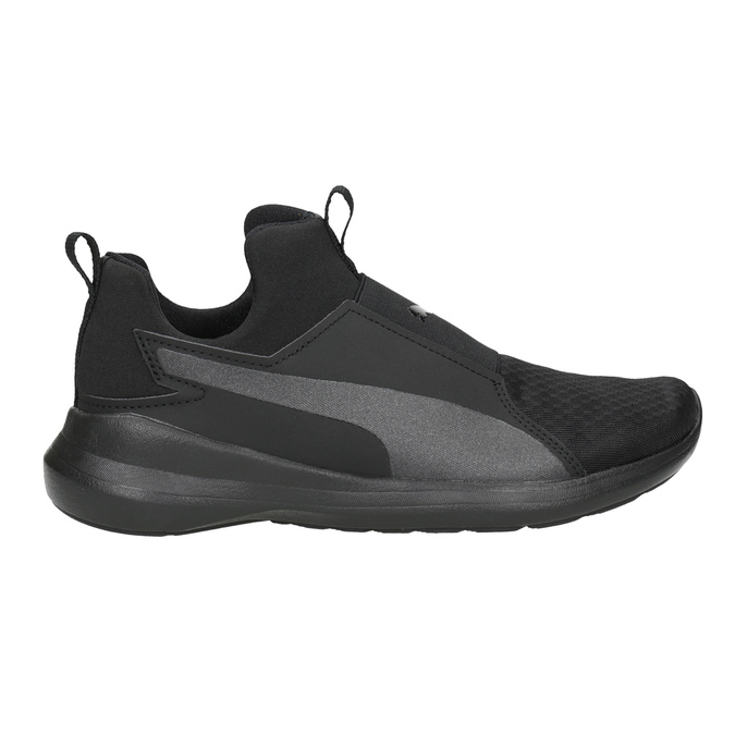 Black Ladies' Laceless Sneakers puma, black , 509-6200 - 26
