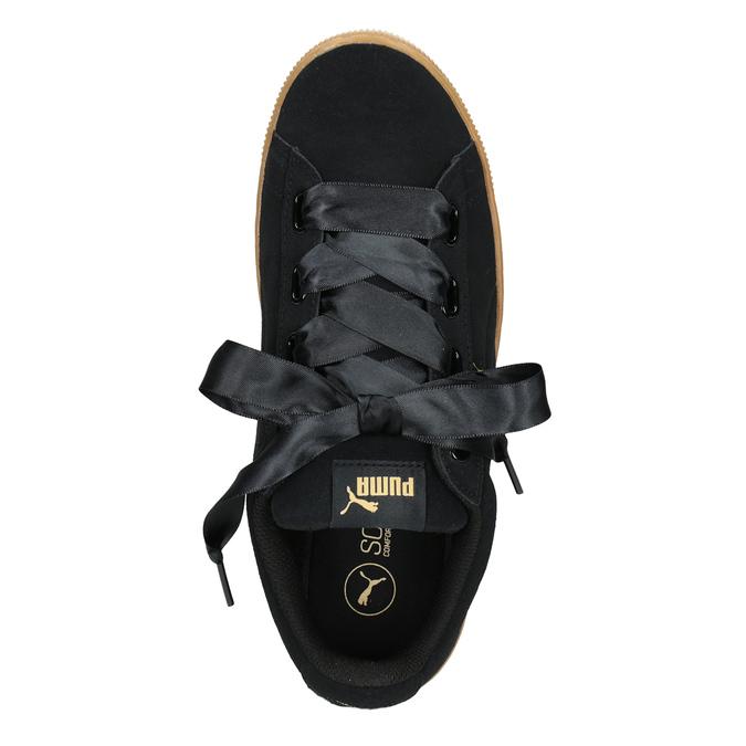 Ladies' Leather Sneakers puma, black , 503-6169 - 15
