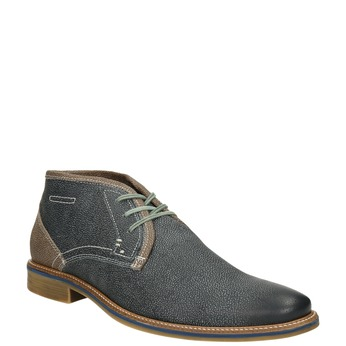 Men's leather ankle boots bata, blue , 826-9920 - 13