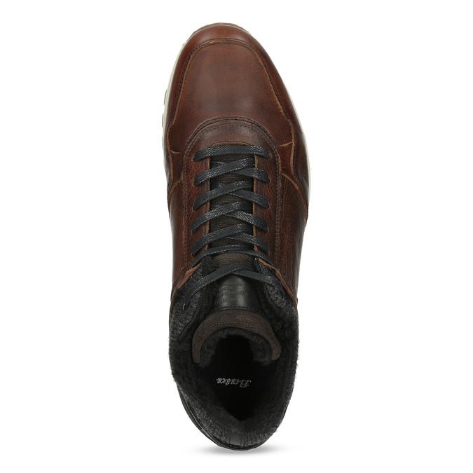 Leather Winter Sneakers bata, brown , 846-4646 - 17