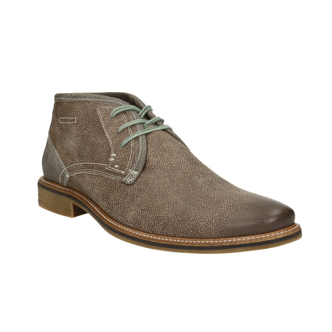 Men's ankle boots with stitching bata, brown , 826-4920 - 13