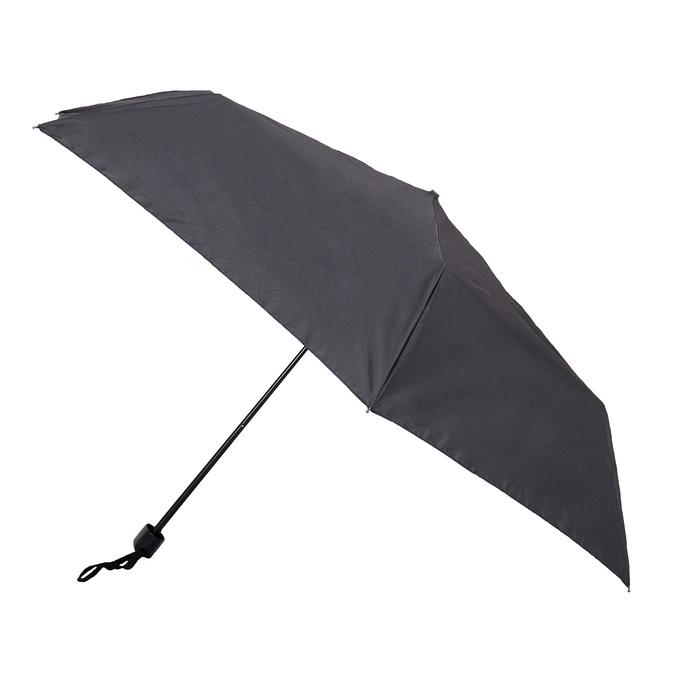 Black folding umbrella, black , 909-6659 - 13