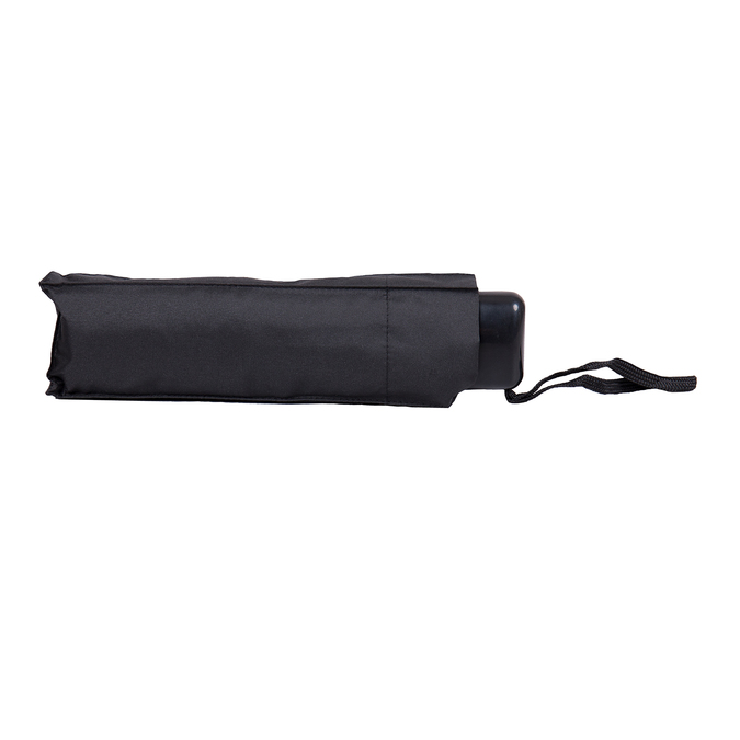 Black folding umbrella, black , 909-6659 - 16