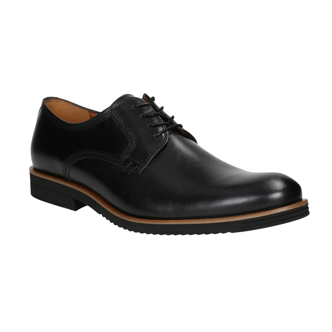 Men's leather shoes conhpol, black , 824-6991 - 13