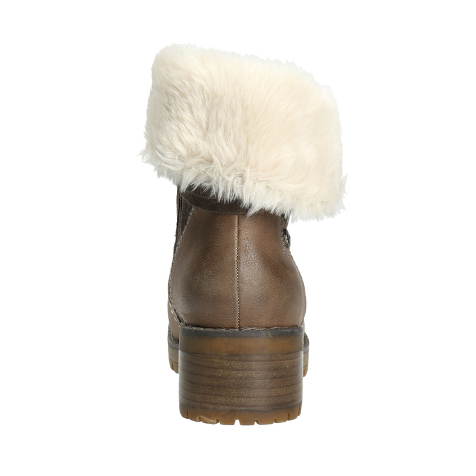 Ankle Boots with Fleece bata, brown , 691-2633 - 17