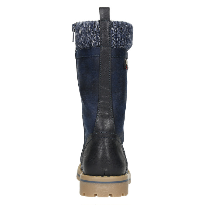 Girls' Winter Boots with Knit Jumper mini-b, blue , 391-9657 - 17