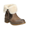 Ankle Boots with Fleece bata, brown , 691-2633 - 13