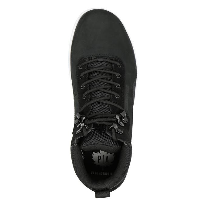 Men's leather ankle boots k1x, black , 806-6552 - 15