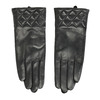 Ladies' black leather gloves bata, black , 904-6131 - 26