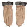 Ladies' beige leather gloves bata, beige , 904-4112 - 26