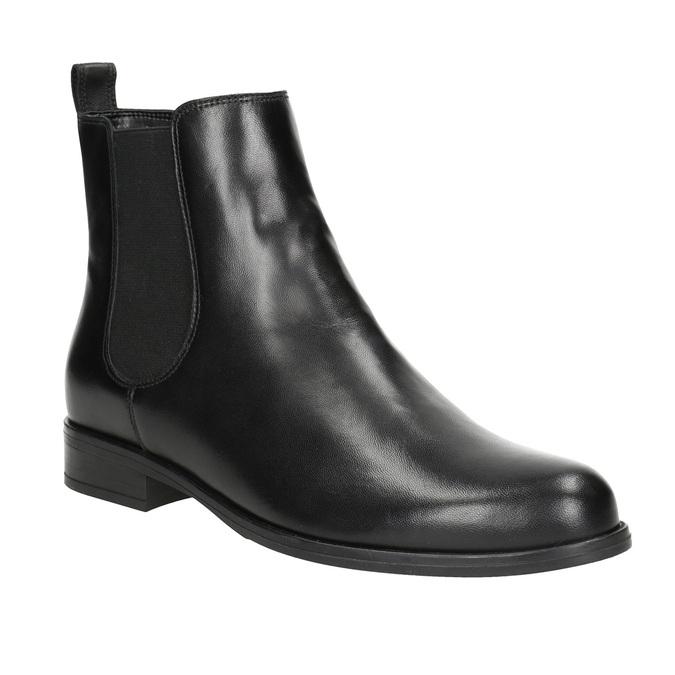 Ladies' Leather Chelsea Boots bata, black , 594-6661 - 13