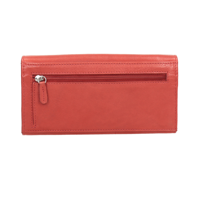 Ladies' red leather purse bata, red , 944-3203 - 16
