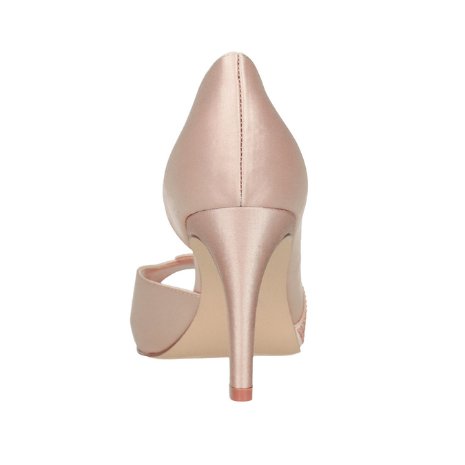 Formal Pumps with Rhinestones bata, pink , 729-8613 - 15