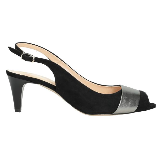 Ladies' court shoes bata, black , 623-6604 - 16