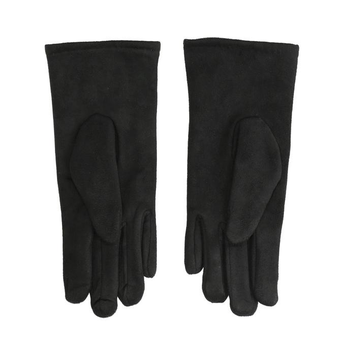 Ladies' textile gloves, black , 909-6612 - 16