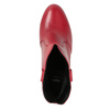 Red leather high ankle boots bata, red , 794-5652 - 17