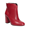 Red leather high ankle boots bata, red , 794-5652 - 13