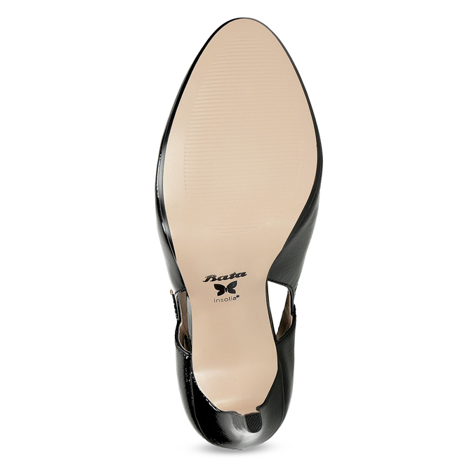 Patent pumps with cut-outs insolia, black , 721-6614 - 18