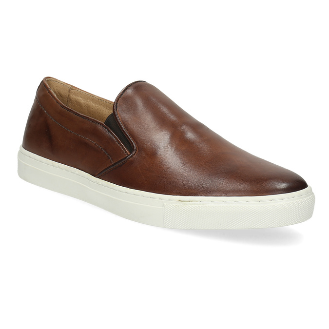 e922c633f Bata Men s Leather Slip-Ons