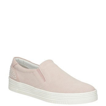 Ladies' leather Slip-on shoes bata, pink , 533-5600 - 13