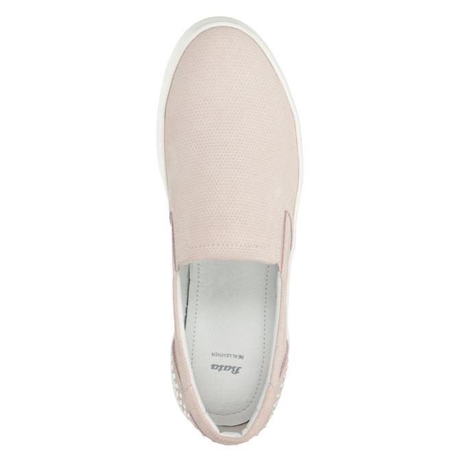 Ladies' leather Slip-on shoes bata, pink , 533-5600 - 15
