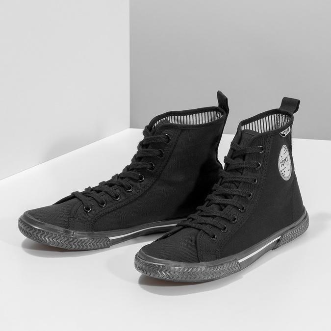Black ankle sneakers tomy-takkies, black , 589-6173 - 16