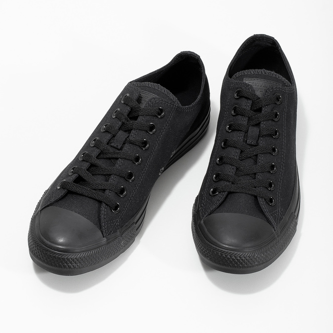 Men's black sneakers converse, black , 889-6279 - 16