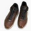 Leather Winter Sneakers bata, brown , 846-4646 - 16