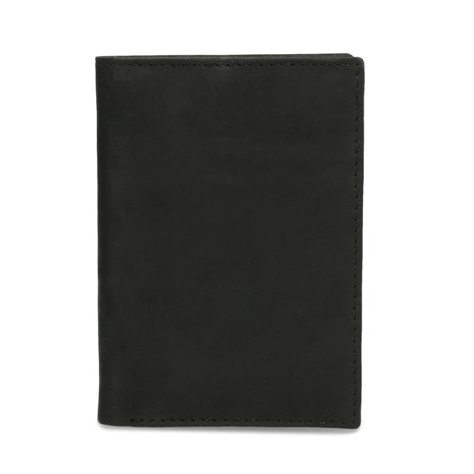 Leather document and card case bata, black , 944-6158 - 16