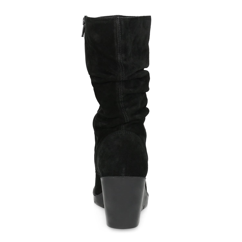 f125bf9f50b673 Bata Schwarze Stiefel mit Keilabsatz - Alle Schuhe